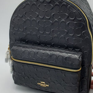 Coach Signature Embossed Medium Charlie Backpack